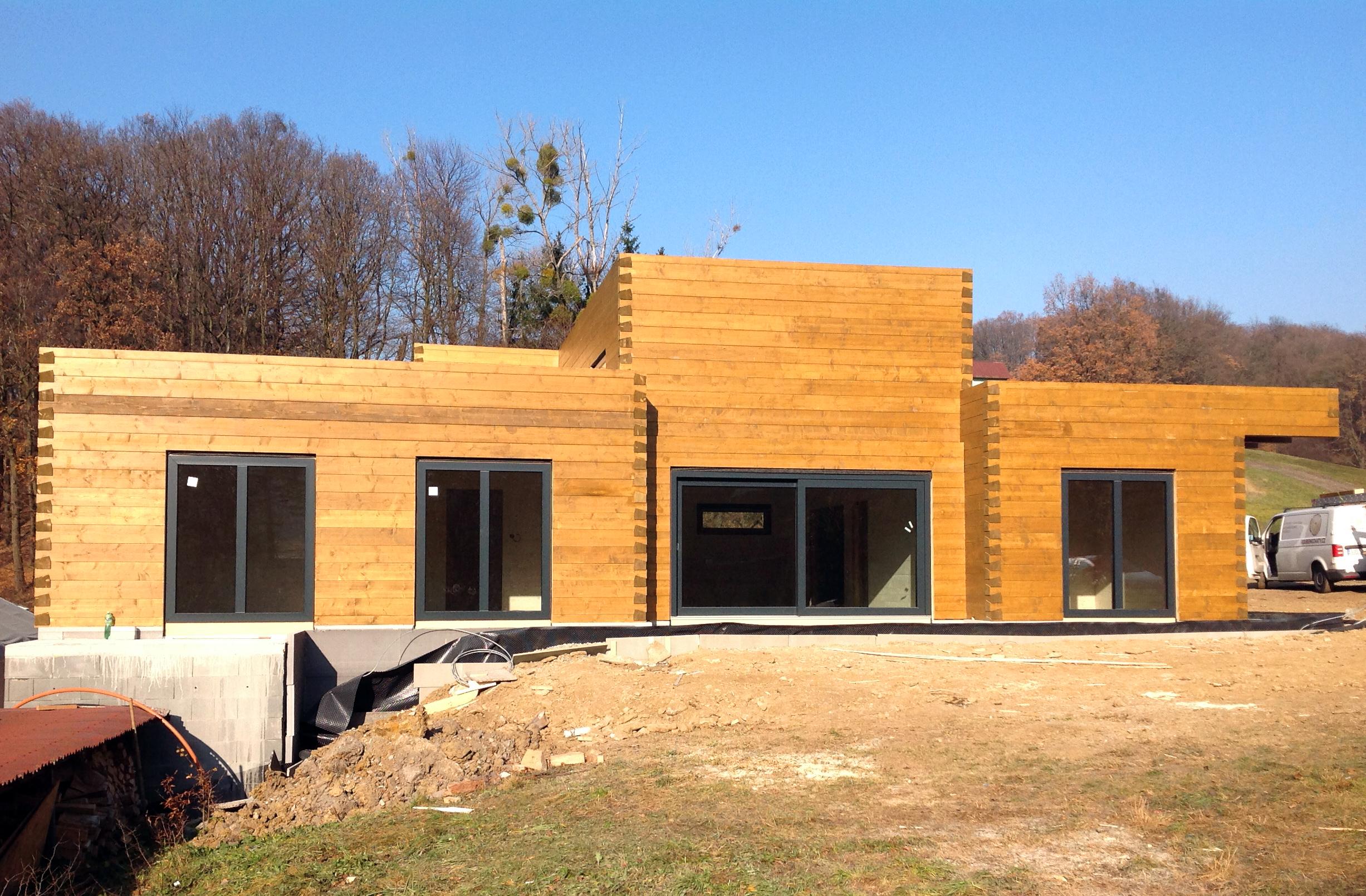 Roubený dům z BSH hranolů